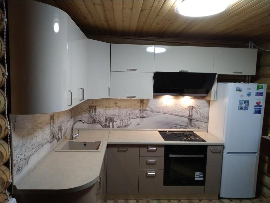 Белый кухонный гарнитур-Кухня МДФ в ПВХ «Модель 38»-фото2