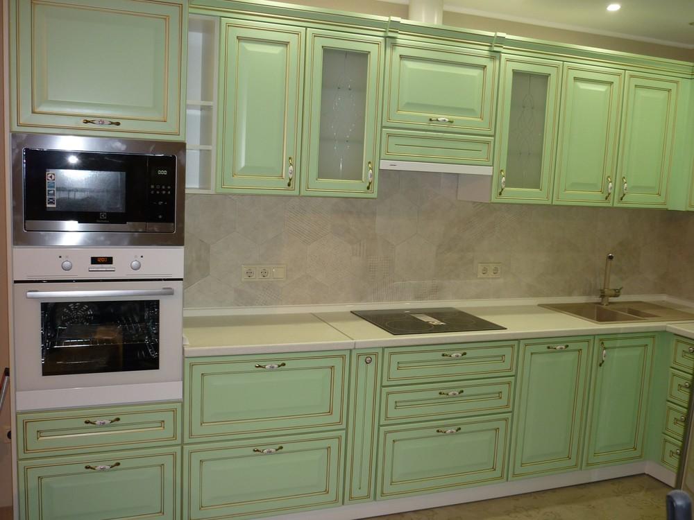 Встроенная кухня-Кухня МДФ в ПВХ «Модель 326»-фото2