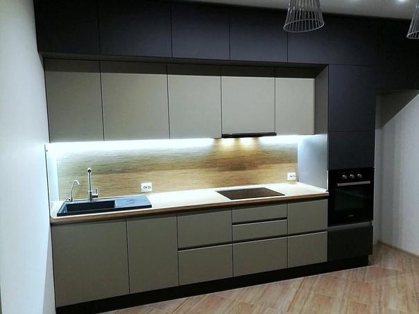 Белый кухонный гарнитур-Кухня МДФ в ПВХ «Модель 99»-фото2