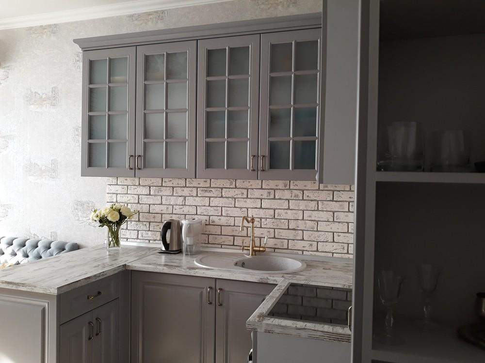 Встроенная кухня-Кухня МДФ в эмали «Модель 281»-фото3