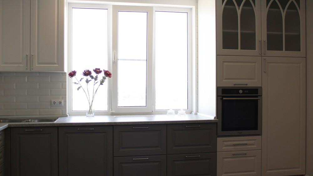 Белый кухонный гарнитур-Кухня МДФ в ПВХ «Модель 324»-фото8