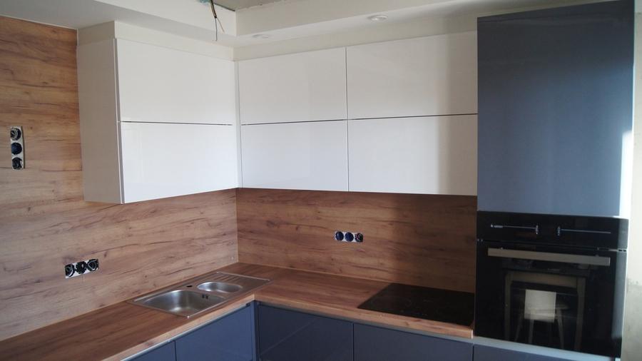 Белый кухонный гарнитур-Кухня МДФ в эмали «Модель 230»-фото3