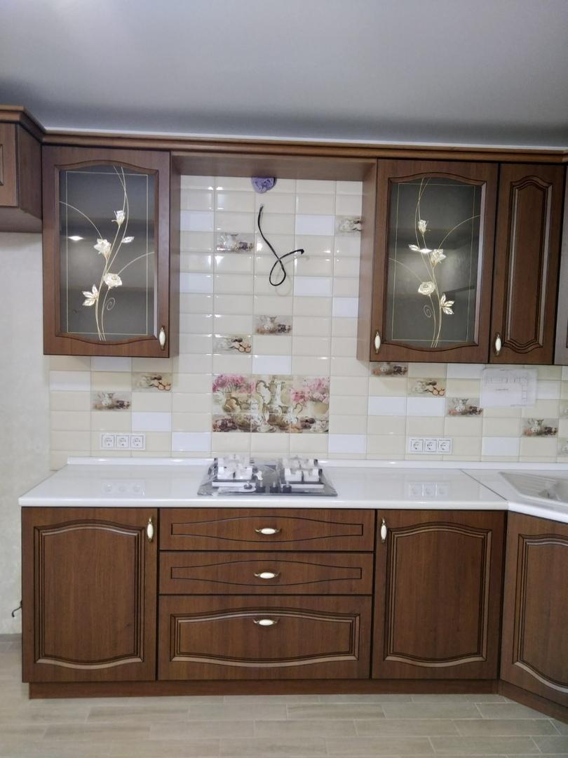 Классические кухни-Кухня МДФ в ПВХ «Модель 527»-фото3