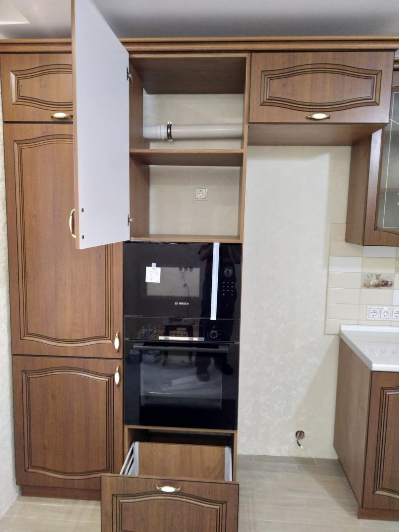 Классические кухни-Кухня МДФ в ПВХ «Модель 527»-фото7