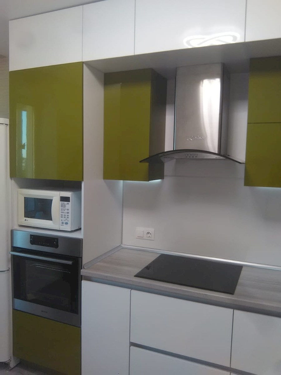 Белый кухонный гарнитур-Кухня из пластика «Модель 572»-фото11