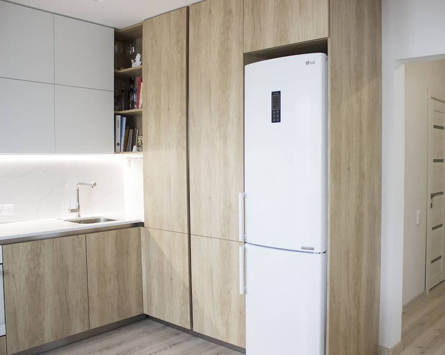 Белый кухонный гарнитур-Кухня из пластика «Модель 649»-фото2