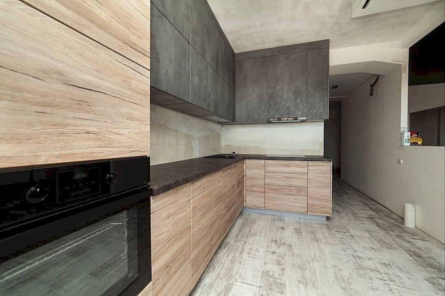 Высокие кухни под потолок-Кухня из ЛДСП «Модель 643»-фото3