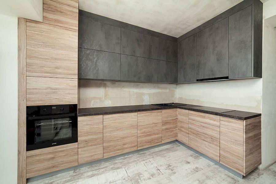 Высокие кухни под потолок-Кухня из ЛДСП «Модель 643»-фото1