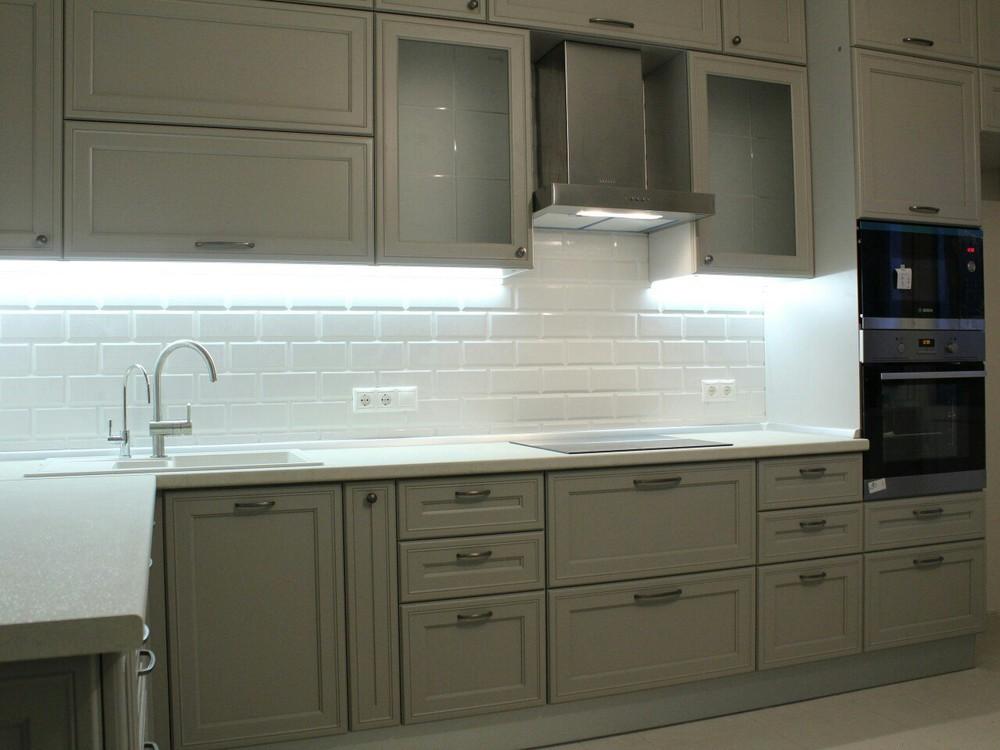 Встроенная кухня-Кухня МДФ в ПВХ «Модель 84»-фото2