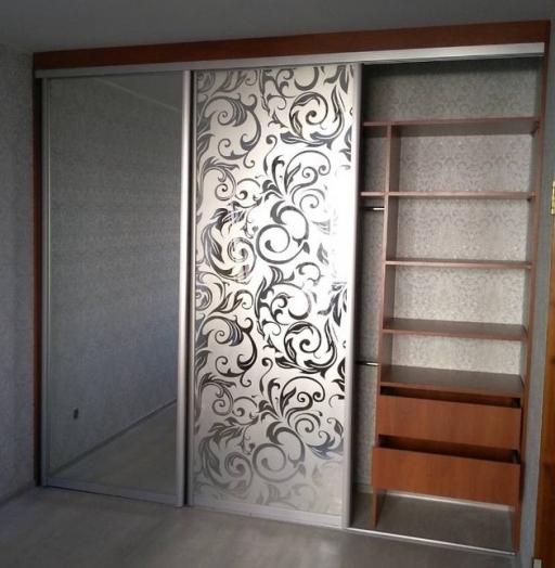 -Шкаф-купе с пескоструйным рисунком «Модель 244»-фото10