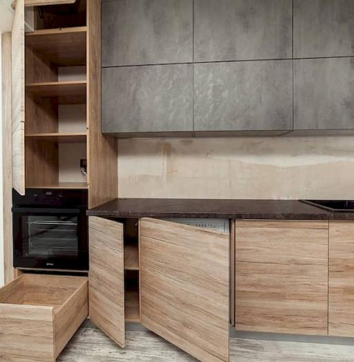 Высокие кухни под потолок-Кухня из ЛДСП «Модель 643»-фото10